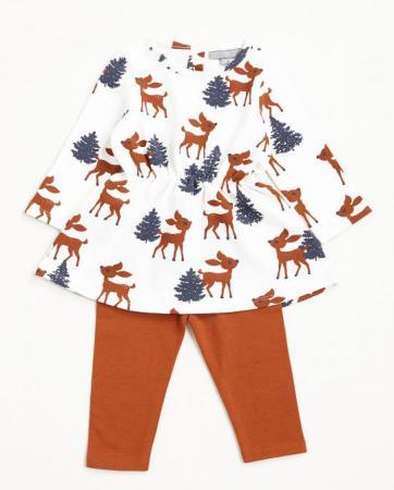 Ensemble robe et legging «Bambi»