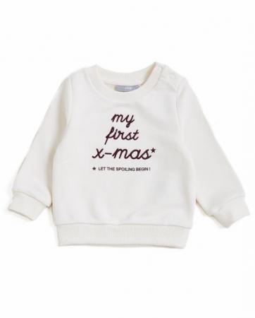Sweat blanc «My first x-mas*»