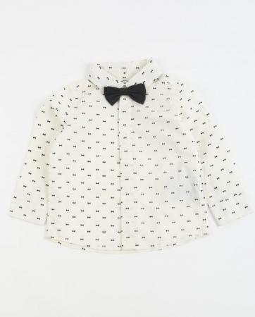 Chemise avec motif nœud papillon