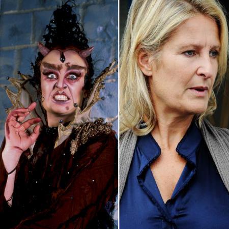 Veerle Eyckermans als moeder van de Duivel in 'Kulderzipken'
