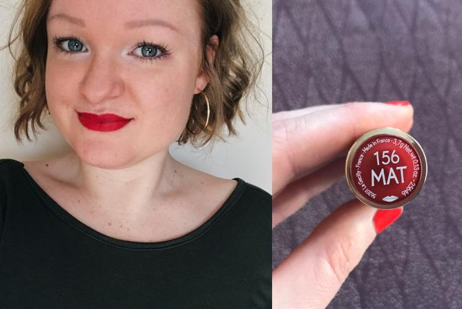 Lipstick Grand Rouge Mat in de tint 156