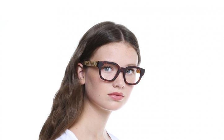 Bril met tortoisemotief en lichte beentjes 'Drums Écaille'