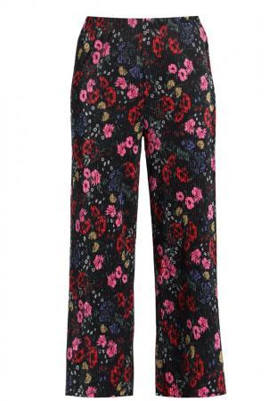 Pantalon fluide à motif floral