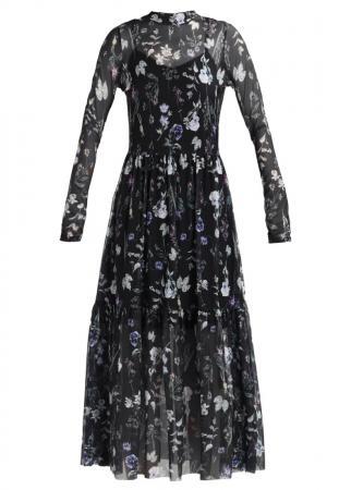 Longue robe à motif floral