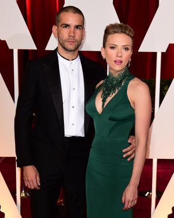 Romain Dauriac (36) en Scarlett Johansson (33)