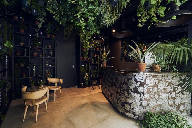 La réception/magasin de plantes