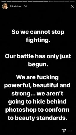 We cannot stop fighting