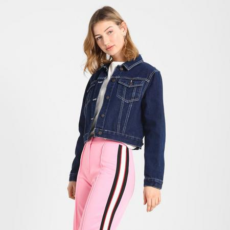 Blouson court en denim brut