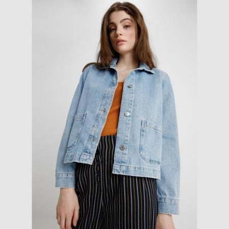 Veste droite en « light denim »