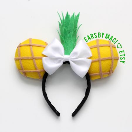Minnie Mouse-oortjes ananas
