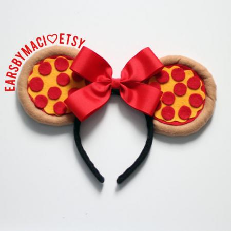 Minnie Mouse-oortjes pizza