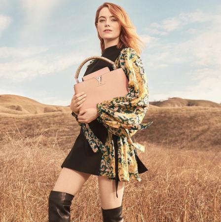 Emma Stone voor Louis Vuitton