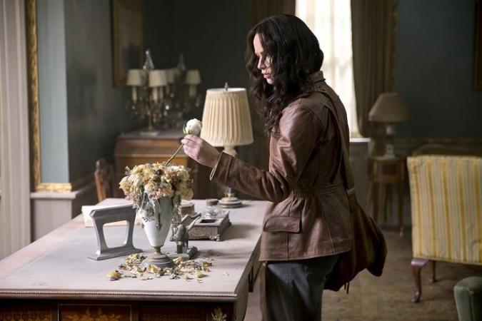 Jennifer Lawrence als Katniss Everdeen in 'The Hunger Games'