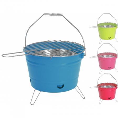 Barbecue-emmer in hippe kleurtjes