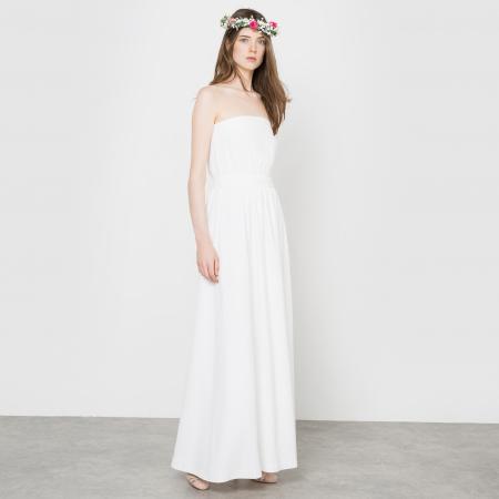Minimalistische maxi-jurk met bustier