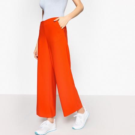Pantalon taille haute esprit jupe-culotte