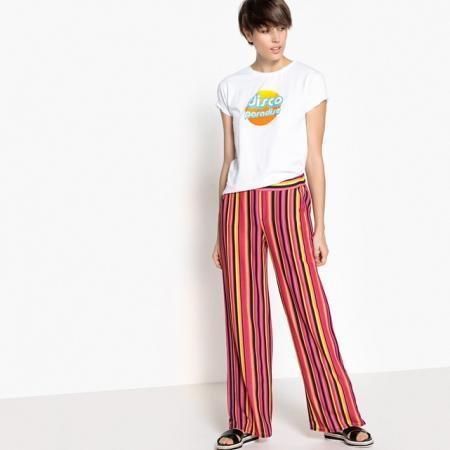 Pantalon à rayures multicolores flashy