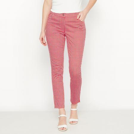 Rode pantalon met 7/8 pijpen