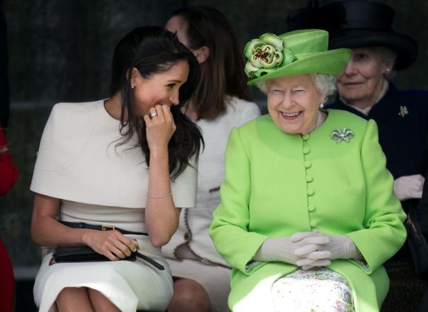 De Queen en Meghan Markle