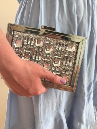 Handtas 1: zilverkleurige clutch