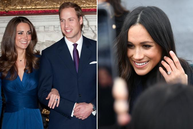 Haar verlovingsring is half zo zwaar als die van Kate Middleton