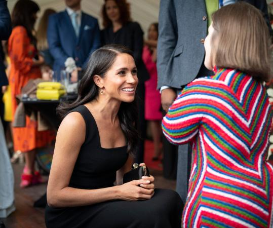 Harry en Meghan op tuinfeest in Dublin