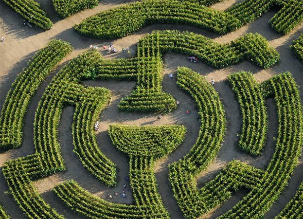 Vous perdre dans un labyrinthe géant