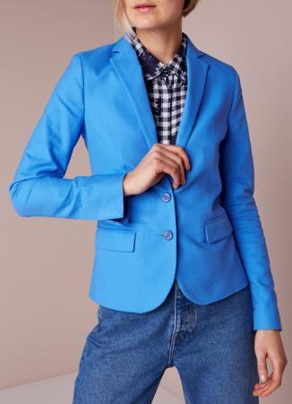 Kobaltblauwe blazer