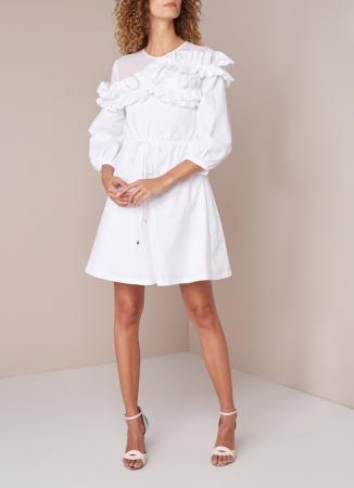 Witte mini-jurk