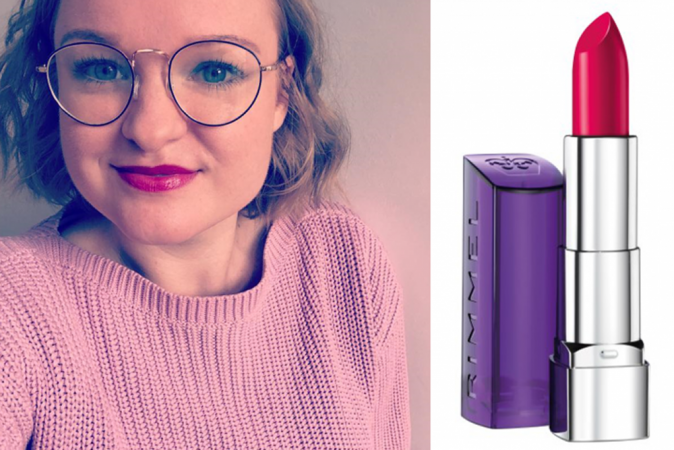 Moisture renew lipstick in Pink Fame van Rimmel London