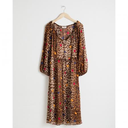 Robe à motif léopard