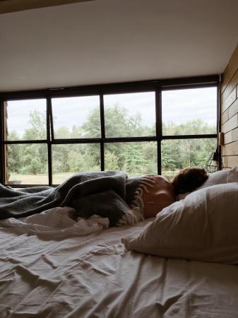 Slapen met uitzicht over het meer