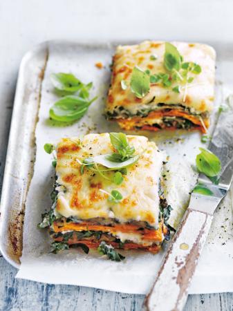 Lasagne patate douce aubergine