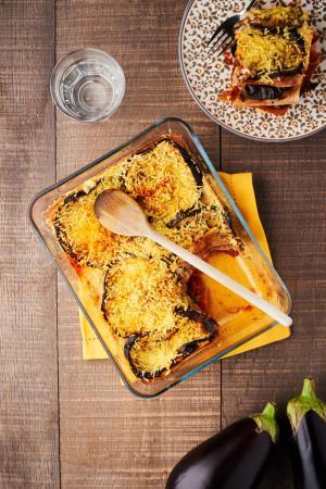 Lasagne aux aubergines grillées