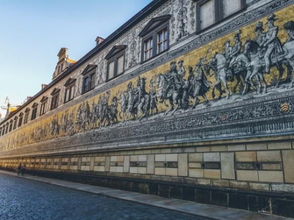 Rebelse gezelligheid in Neustadt in Dresden