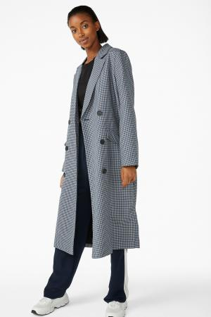 Zwart-blauwe mantel