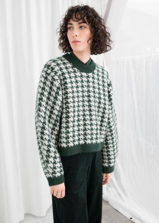 Wit-groene sweater