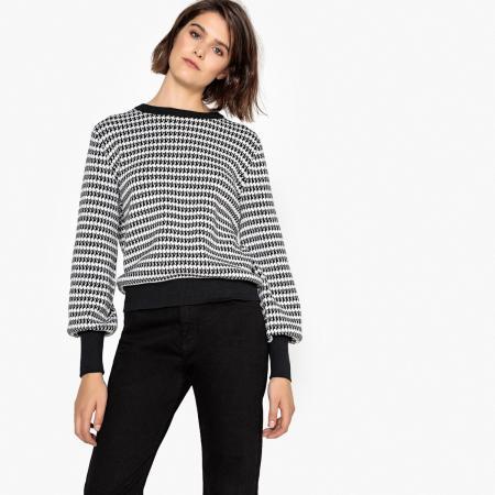 Zwart-witte sweater
