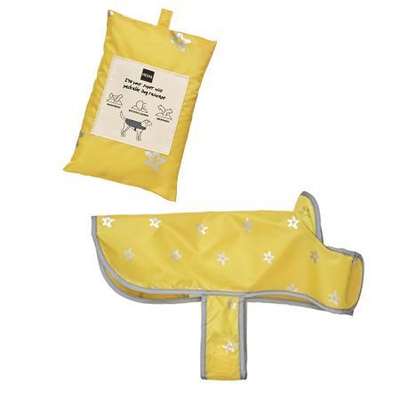 Gele regencape