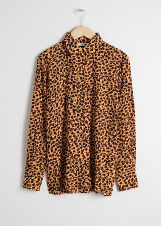 Chemisier motif léopard