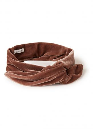 Fluwelen haarband in taupe