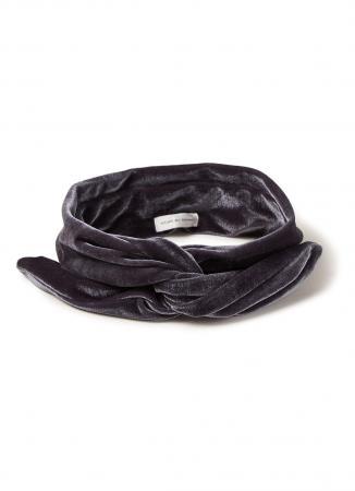 Fluwelen haarband in grijs