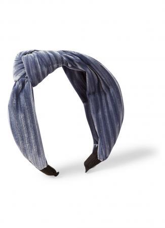 Fluwelen haarband in ijsblauw