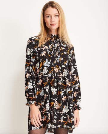 Korte jurk bloemenprint