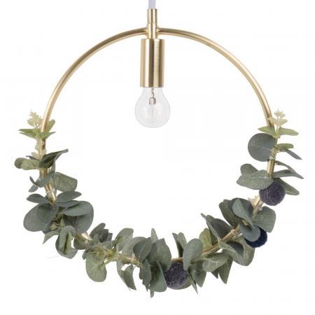 Hanglamp met eucalyptusblaadjes