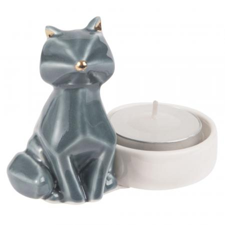 Kaarsenhouder met kat
