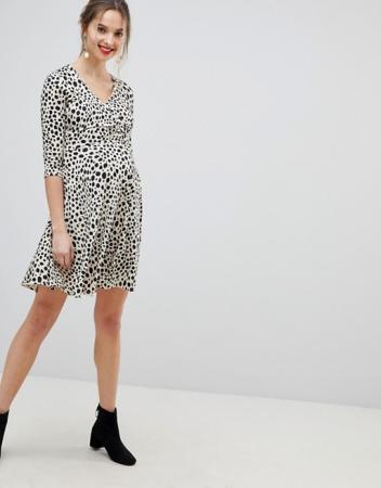 Wrap dress in luipaardprint
