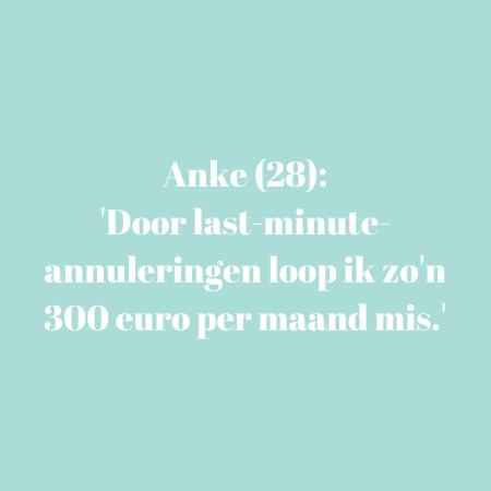 Anke (28) – +/- € 1.650, afhankelijk van hoeveelheid werk