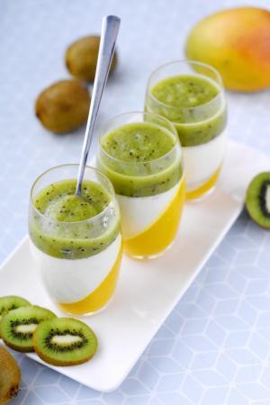 Panna cotta mangue kiwi