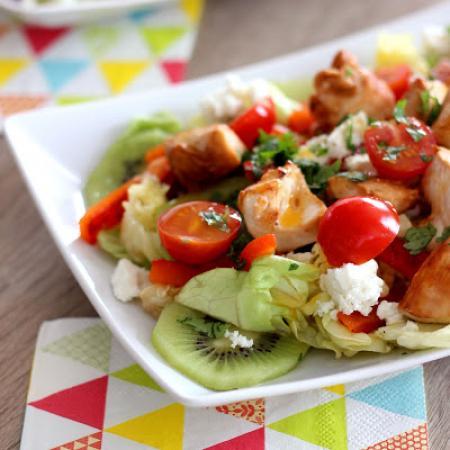 Salade de poulet et kiwi